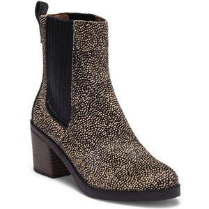 UGG Camden Exotic Calf Hair Block Heel Boot 7.5